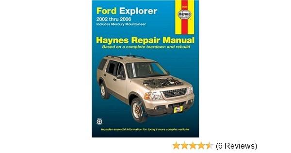 ford explorer 2002 thru 2006 includes mercury mountaineer haynes rh amazon com ford explorer manual 2006 ford explorer manual 2003