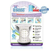 "ShowerShroom Revolutionary 2"" Stand-up Shower Stall Drain Protector Hair Catcher/Strainer 2"", White"