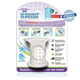 "stand up shower ideas ShowerShroom Revolutionary 2"" Stand-up Shower Stall Drain Protector Hair Catcher/Strainer 2"", White"