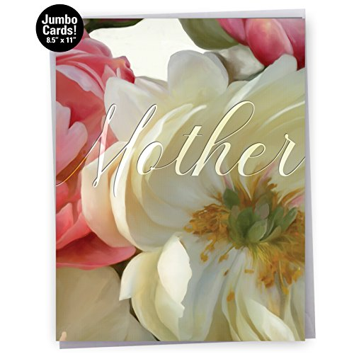 Jumbo Humorous Mother's Day Greeting Card: Peony Passion - Mother's Day: Featuring Images of Beautifully Textured Peonies in Full Bloom With Envelope (Giant Size: 8.5