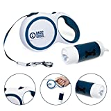 Basic Oasis Tangle-Free Retractable Dog Leash | FREE Flashlight, Poop Bag Holder, and Bags Included | 16 Ft - Best Up to 50 lbs