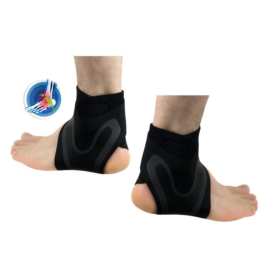 Acecor Adjustable Ankle Foot Support Elastic Brace Guard for Football Basketball Ankle Braces