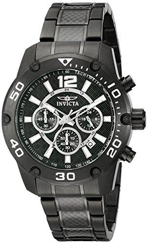Invicta Men's 21488 Pro Diver Analog Display Japanese Quartz Black Watch Invicta Black Wrist Watch