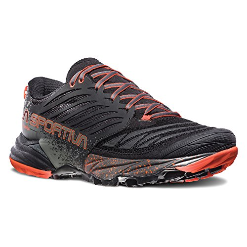 buy cheap fast delivery La Sportiva Men's Akasha Trail Running Shoe Black/Tangerine outlet discount authentic FcOGZP