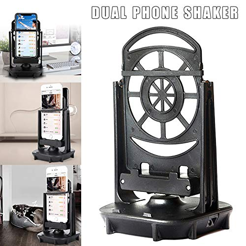 Yumfr Mobile Phone Shaker for Two Phones Automatic Shake Step Earning Swing Device
