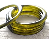 Recycled Olive Green Wine Bottle Stackable Bangle