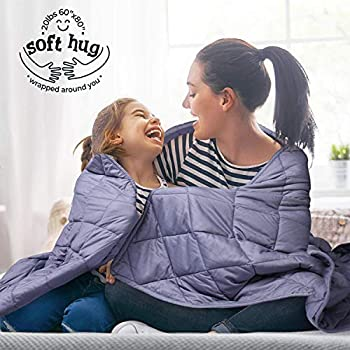 Image of Mooka Weighted Blanket 20lbs (60' x 80',Queen Size,Gray) for All Seasons, Cooling Weighted Blanket for Adults, Kids, Individual 160-280 lbs,100% Cotton Material with Glass Beads,Gift for Your Loved Mooka B0833P5XFD Weighted Blankets