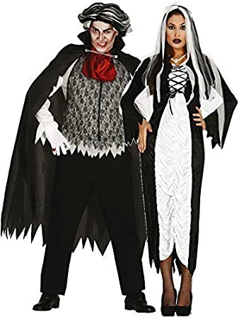 ladies and mens blackwhite couples vampire bride halloween fancy dress costumes outfits