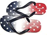 Old Navy Flip Flop Sandals for Woman, Great for Beach or Casual Wear (Flag, 10-11)