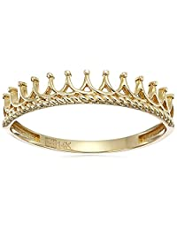 14k Yellow Gold Crown Band Ring