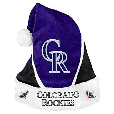 MLB Colorado Rockies 2014 Colorblock Santa Hat, Black