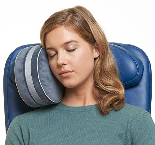 Travelrest New i-Lene Travel Pillow - The Best Neck Pillows for Airplanes - Attaches to Airplane Headrest - Dual-Density Memory Foam - Plush Washable Removable Cover (2-Year Warranty) by Travelrest