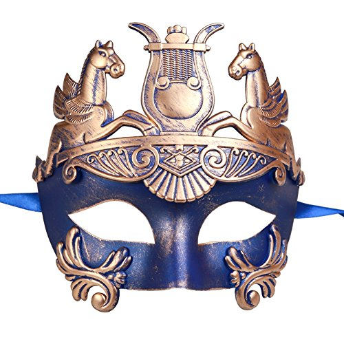 Xvevina Men's Mythological Roman Gladiator Ancient Greek Masquerade Mask -