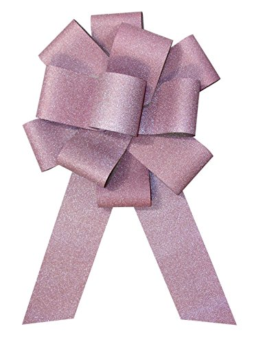 "Forum Diamond Ribbon Car Bow, 25"", Light Pink"