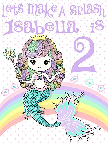 Personalized Mermaid Birthday T Shirt Girls Kids Youth Tee Custom Name Age Cute Magic Gift Ideas