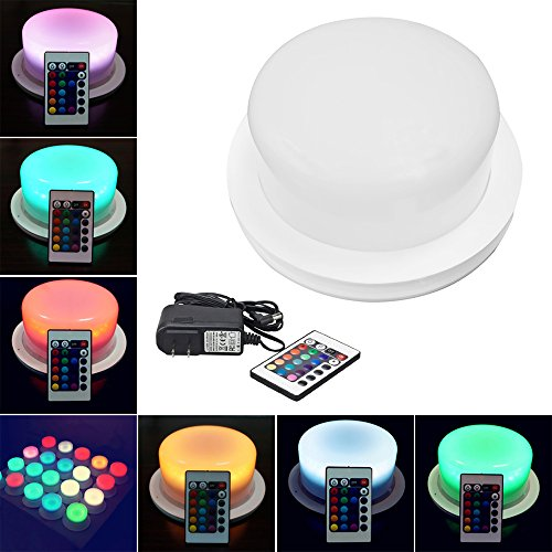 (Multi Color Changing LED Bulb DIY Light Show Decoration Accessories with Remote 16 RGB Colors 4 Color Transition Effects Rechargeable Li-on Battery Powered Energy-saving Waterproof (1, 175mm/ 6.89