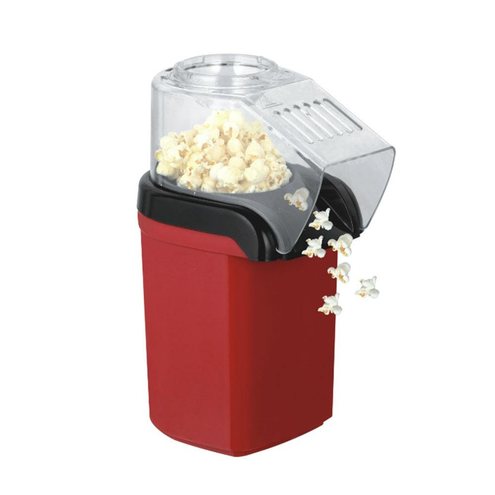 Popcorn Maker, LEEGOAL No Oil Fast Hot Air Popcorn Maker Machine with Wide Mouth Design Perfect for Watching Movies and Holding Parties in Home, Healthy, 1200W, BPA-Free (Red)