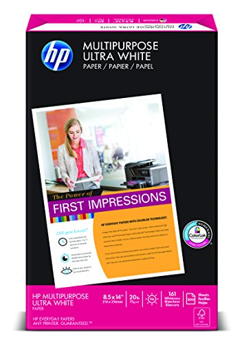 HP Paper, Multipurpose Ultra White, 20lb, 8.5x14, Legal, 96 ...