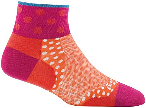 Darn Tough Dot 1/4 Ultralight Sock - Women's Coral Medium ()