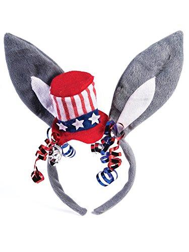 Forum Novelties Party Supplies Unisex-Adults Democratic Headband, Multi Color, Standard, Multicolor -