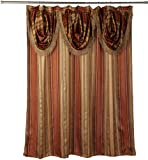 "designer shower curtain  Contempo Spice Fabric Shower Curtain with Attached Valance, 72""  x  72"""