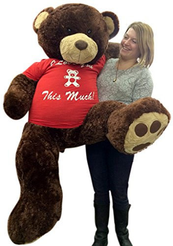 1899ecaf703 Giant 5 Foot Valentine Teddy Bear Soft Brown 60 Inch