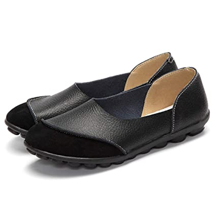 52b789cbc067 Image Unavailable. Image not available for. Color  Dreamstar Women Flats  Shoes Moccasins Soft Round Toe Ladies Footwear