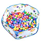 KUUQA Kids Ball Pit Tent Toddler Play Pit for Toddlers with Red Zippered Storage Bag (Balls Not Included)