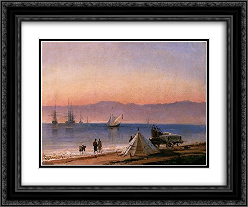 Alexey Bogolyubov 2X Matted 24x20 Black Ornate Framed Art Print 'Sinop. Turkey'
