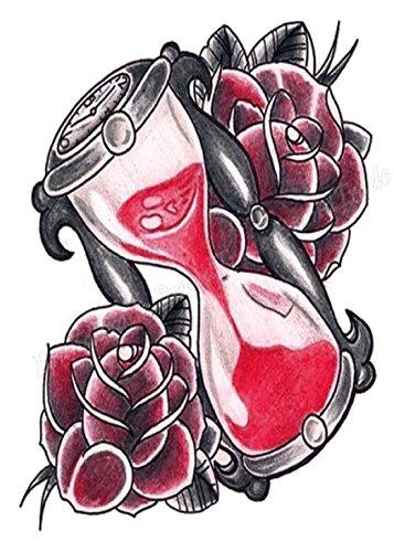 Cuerpo de klebbare temporales tatuaje Tattoo Pegatinas Reloj de arena tatuaje Tattoo Pegatinas