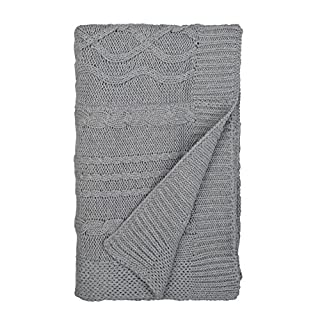 """Burt's Bees Baby - Cable Knit Blanket 30"""" x 40"""" - This precious cable knit sweater blanket is perfectly giftable. An heirloom quality blanket for the mom who has everything. The sweater knit adds sophistication and refinement. Perfect for use as a st..."""