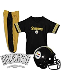 Deluxe NFL-Style Youth Uniform – NFL Kids Helmet, Jersey, Pants, Chinstrap and Iron on Numbers Included – Football Costume for Boys and Girls