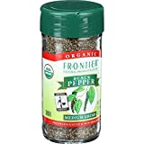 Frontier Natural Products Pepper, Og, Medium Black, Ft, 1.80-Ounce ( Multi-Pack)