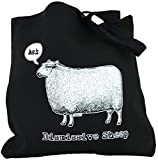 Yujean Evilkid Dismissive Sheep Cotton Tote Bag Black Review