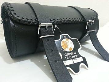 Motorcycle Tool Bag >> Motorcycle Motorbike Genuine Leather Tool Roll Saddle Bag Tr3