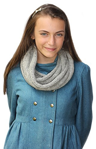 Handmade PURE ALPACA Infinity Loop Scarf - Gray (Ready to ship from FRANCE) by BARBERY Alpaca Accessories