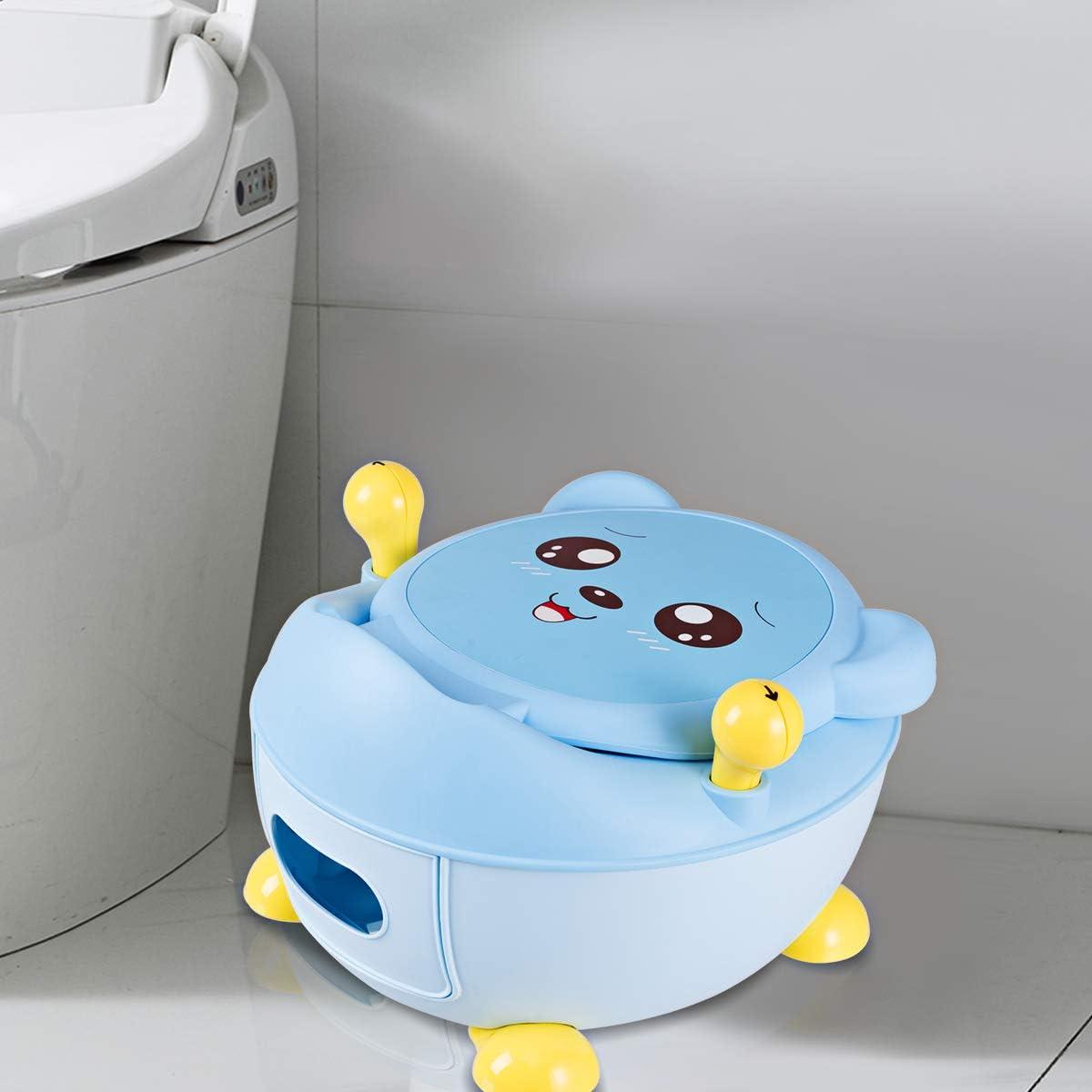 Rose DREAMADE Toilette Pot Enfants Pot dApprentissage B/éB/é Trainer Pot WC avec Motif Dessin Anim/é Dossier Haut Ergonomique 1,9 L Urinoir D/étachable Convient aux Enfants de 6 Mois /à 5 Ans