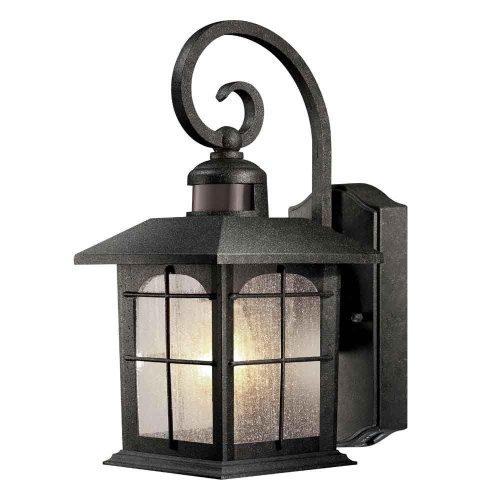 - Home Decorators Brimfield Aged Iron Motion-Sensing Outdoor Wall Lantern 592082
