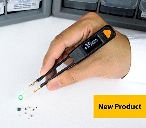 LCR Research Pro1 Plus with Ultra Precise Test Tips - LCR Meter / LED Tester / ESR Meter / Digital Multimeter / SMD Tester / Smart SMD Tweezers / In Circuit Debugger (Smart Tweezer)
