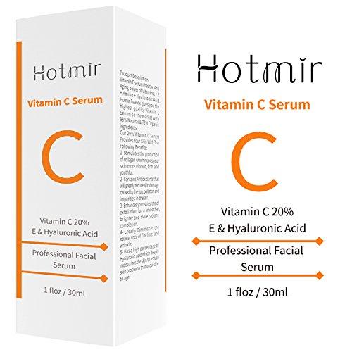 Vitamin C Serum Pure Organic Natural Serum  Hotmir Fashionable AntiAging Serum with Hyaluronic Acid