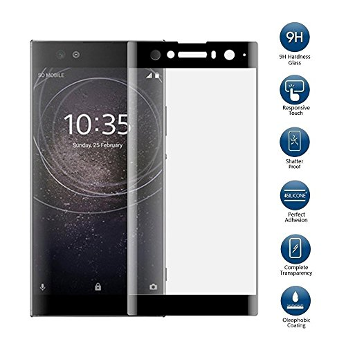 YiOne Sony Xperia XA2 Ultra ガラスフィルム 強化ガラス 3D円弧 フィルム 6.0インチ 液晶保護フィルム 旭硝子素材 防指紋 気泡レス 耐衝撃 飛散防止 撥水性 撥油性(Xperia XA2 Ultra対応)