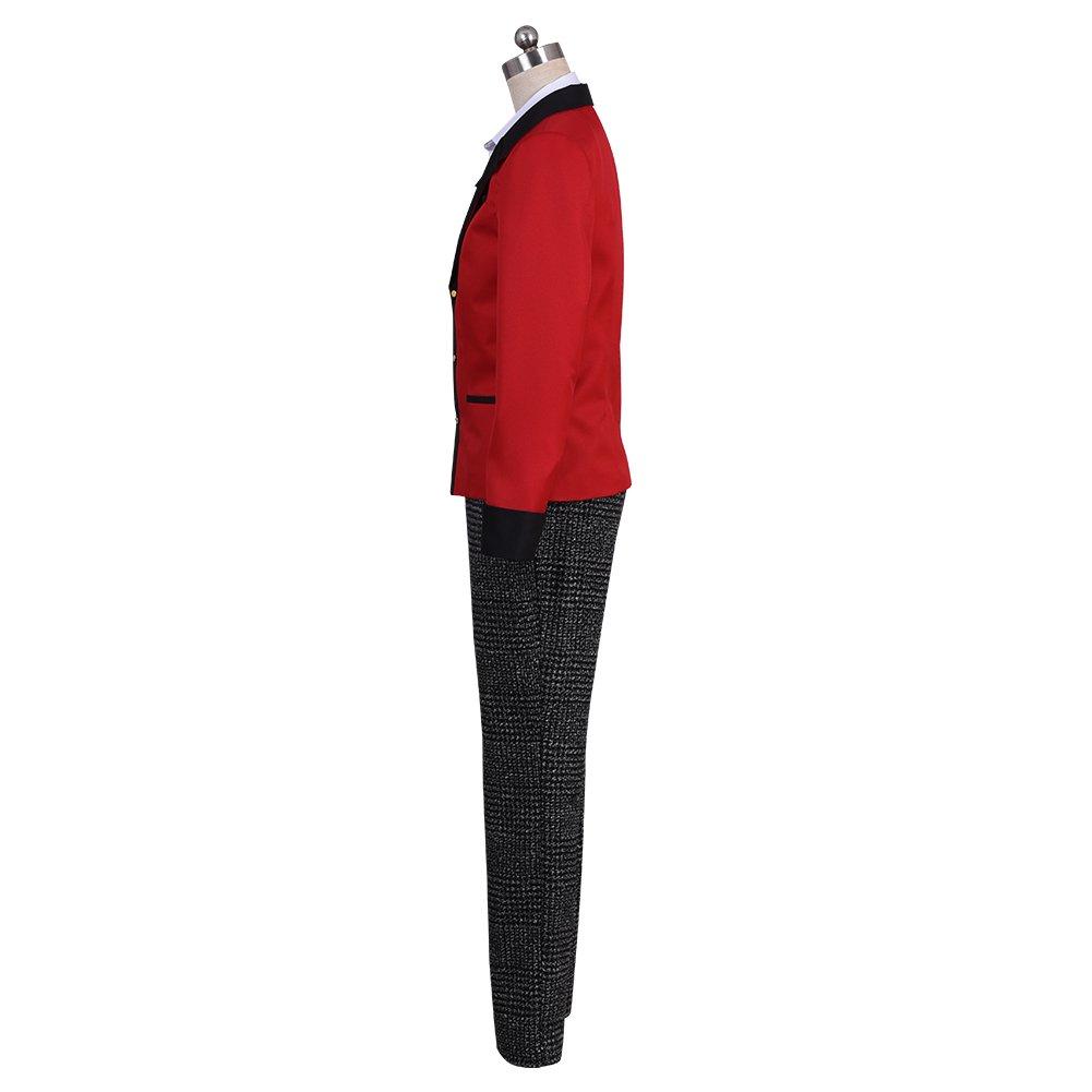 starfun Kakegurui Compulsive Gambler Suzui Ryota Cosplay Costume Manyuuda Kaede School Uniform Suit Red by starfun (Image #2)