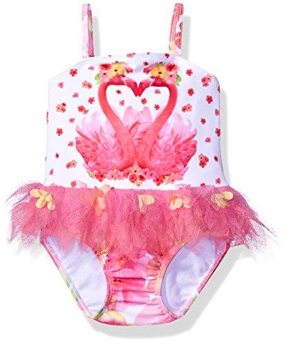 - Kate Mack Girls' Paradise Island Skirted Tank Baby Swimsuit, Multi, 12M