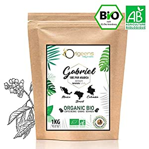 ☘️ CAFFE in GRANI BIO 1kg | Grani di Caffè Biologici Arabica | Torrefazione Artigianale | Gabriel