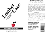 Apple Leather Care Leather Conditioner 8oz Bottle