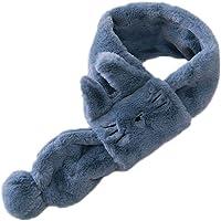 Hosaire 1X Bebé Pañuelos Bufanda de Felpa Caliente Suave Invierno Pañuelo Cruzado Cuello Calentador Linda Diseño de Gato…