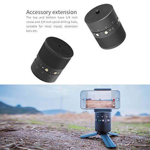 Swiftgood FeiyuTech 360°Selfie用自動回転スタンドホルダー用スマートフォン用ジンバルスタビライザー/ 1/4ネジ付きカメラ