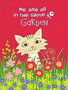 Caroline tesoros del vha3009chf jardín gato bandera lona casa, grandes, Multicolor