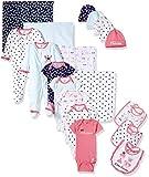 Gerber Baby Girls' 19-Piece Essentials Gift Set, Pink Princess, Newborn