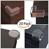 Ezire 20 Pack Corner Guards, Child Corner Guards Safety Edge Clear Corner Protector with 3M Adhesive and Keep Children Safe Protect from Injury around the House
